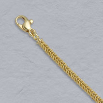 18K Yellow Gold Handmade Textured Foxtail 2.9mm Chain