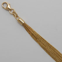 18K Yellow Gold 25 Strand Cable Link Chain