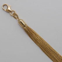 18K Yellow Gold 50 Strand Cable Link Chain
