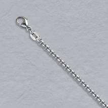 Platinum Diamond Cut Cable Chain 2.0mm