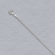Sterling Silver Bead Chain 1.5mm