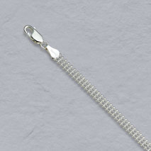 Sterling Silver Triple Bead Chain 4.5mm