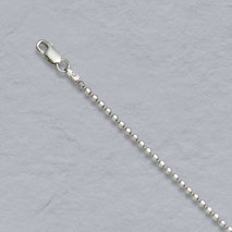 Sterling Silver Diamond Cut Bead Chain 2.2mm