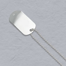 Sterling Silver Bead 2.2mm, Dog Tag Chain
