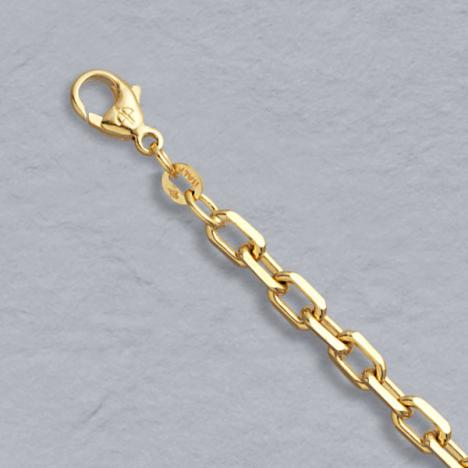 7-Inch 14K Yellow Gold Diamond Cut Cable 4.5mm Chain