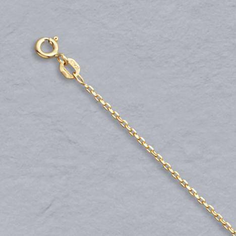 24-Inch 14K Yellow Gold Diamond Cut Cable 1.2mm