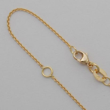 18-20 Inch 14K Yellow Gold Round Cable Chain 1.0mm, 20 with a jump ring at 18