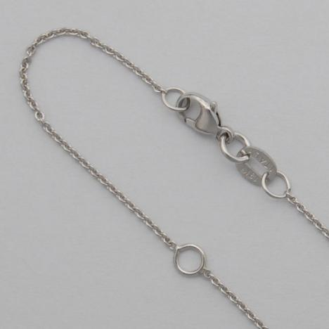 18-20 Inch 14K White Gold Round Cable 1.0mm Chain, 20 with a jump ring at 18