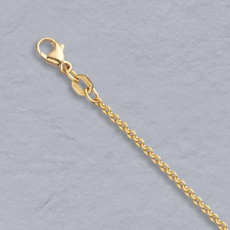 16-Inch 14K Natural Yellow Gold Round Cable Chain 1.8mm