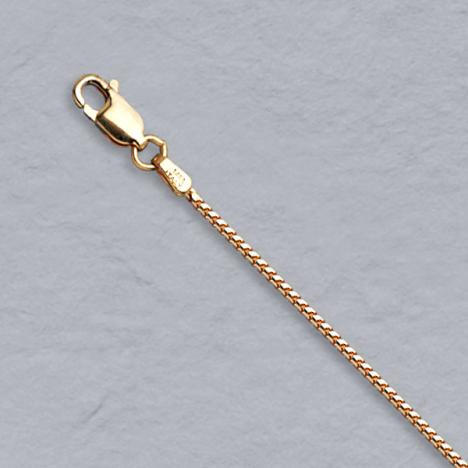 16-Inch 14K Rose Gold Franco 1.1mm Chain