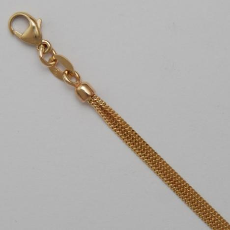 16-Inch 14K Yellow Gold Curb 030 1.0mm, 3 Strand