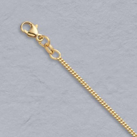 16-Inch 14K Yellow Gold Curb 1.5mm Chain