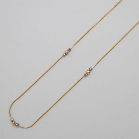 16-Inch 14K Yellow Gold 1.0mm Magic Snake Chain, Moveable Balls