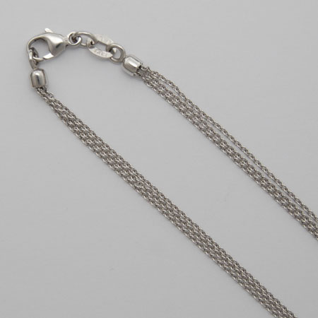 16-Inch 14K White Gold Cable Chain 3 Strand