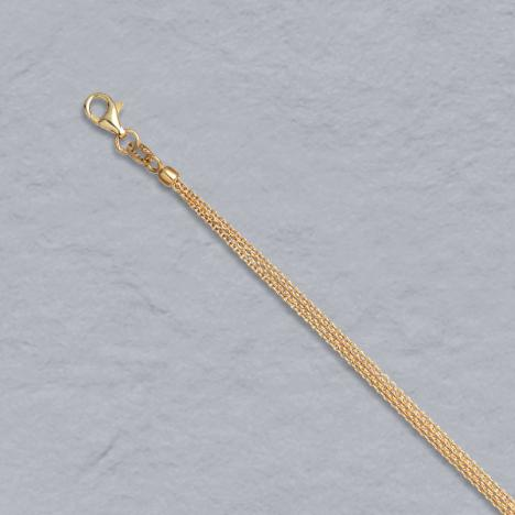 16-Inch 14K Yellow Gold Natural Cable Chain, 3 Strand