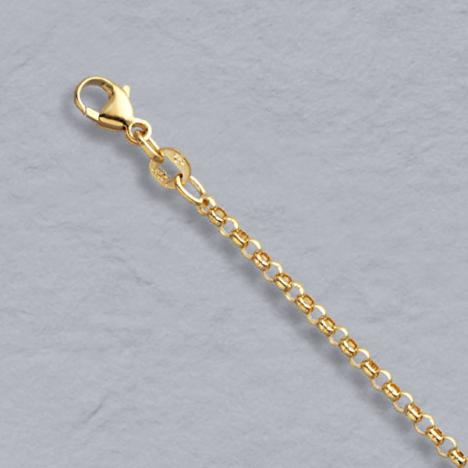 16-Inch 14K Yellow Gold Rolo Chain 2.1mm