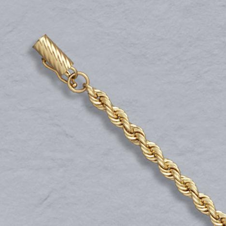 18-Inch 14K Yellow Gold Solid Rope 4.0mm, Lobster Clasp