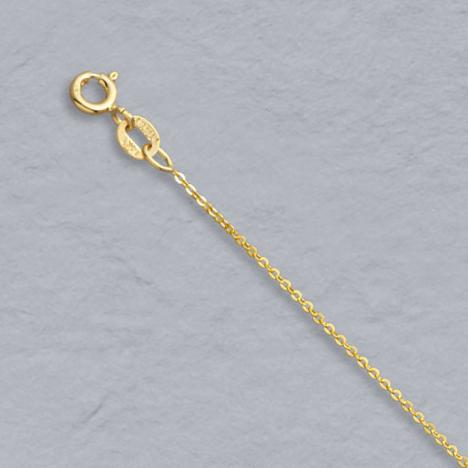 16-Inch 14K Yellow Gold Flat Cable Chain 1.0mm