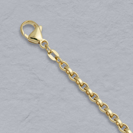 7-Inch 18K Yellow Gold Flat Belcher 3.6mm Chain