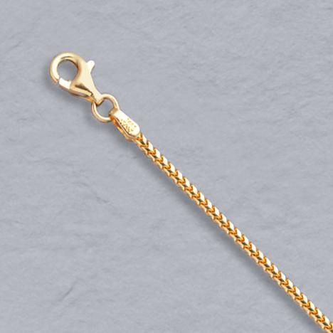 16-Inch 18K Yellow Gold Franco 1.5mm Chain