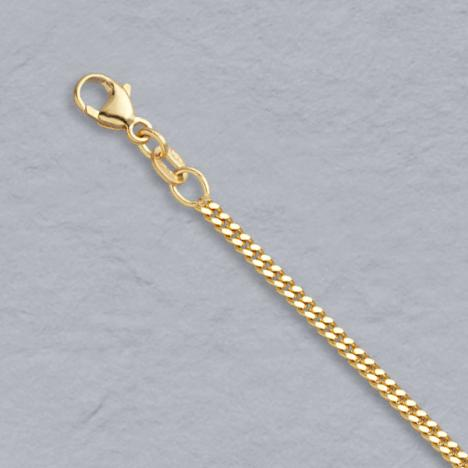 18-Inch 18K Yellow Gold Curb 2.2mm Chain