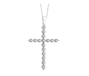 Diamond Fashion Cross Pendant