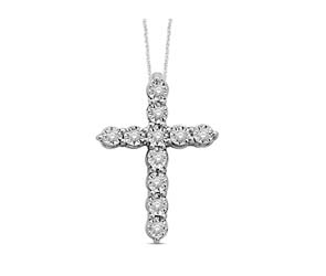 Sterling Silver Diamond Cross