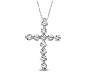 Glamourous Diamond Cross Pendant