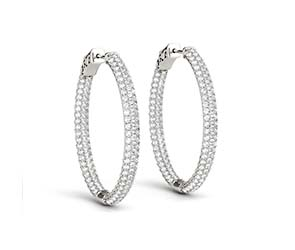 Diamond Hoop Pave Earrings