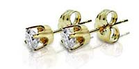 4 Prong Stud Earrings 1/10 Carat Total Weight