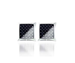Black Diamond Micro Pave Earrings<br> 1/4 Carat Total Weight