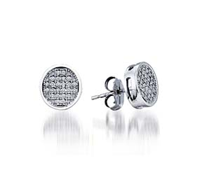 Micro Pave Diamond Earrings<br> .15 Carat Total Weight