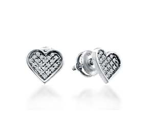Diamond Heart Earrings<br> .05 Carat Total Weight
