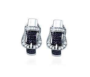 Micro Pave Diamond Earrings<br> 5/8 Carat Total Weight