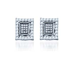 Micro Pave Diamond Earrings<br> .55 Carat Total Weight