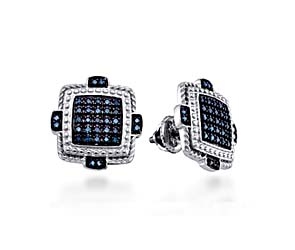Black Diamond Micro Pave Earrings<br> 3/8 Carat Total Weight