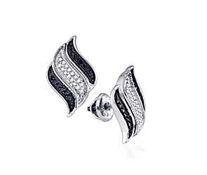 Micro Pave Diamond Earrings<br> 1/4 Carat Total Weight