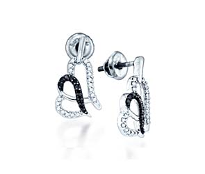 Ladies Micro Pave Diamond Earrings<br> .28 Carat Total Weight