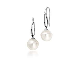 Genuine Paspaley White South Sea Culture Pearl  Drop Earrings