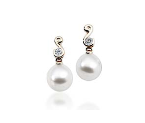 Genuine Paspaley White South Sea Culture Pearl  Shape Drop Earrings
