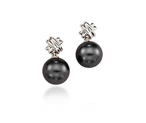 Genuine Tahitian Pearl Drop Earrings