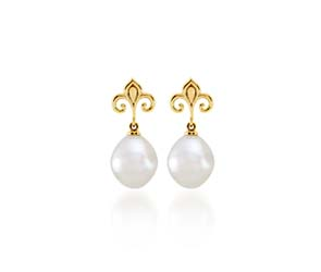 Genuine 11mm. South Sea Pearl Earrings