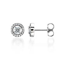 Halo-Style Diamond Stud Earrings 5/8 Carat Total Weight