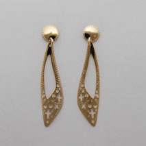 14K Yellow Gold Filigree Point Earrings