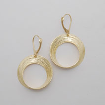 14K Yellow Gold Small Open Circle Earrings