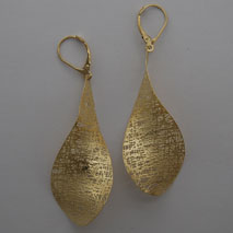 14K Yellow Gold Large Propeller Earrings