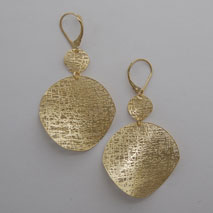 14K Yellow Gold Extra Small / Medium Circle Earrings