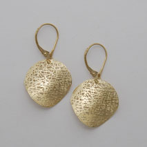 14K Yellow Gold Small Circle Earrings