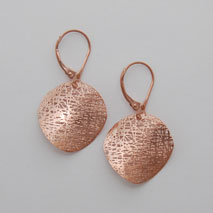 14K Rose Gold Small Circle Earrings