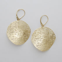 14K Yellow Gold Medium Circle Earring